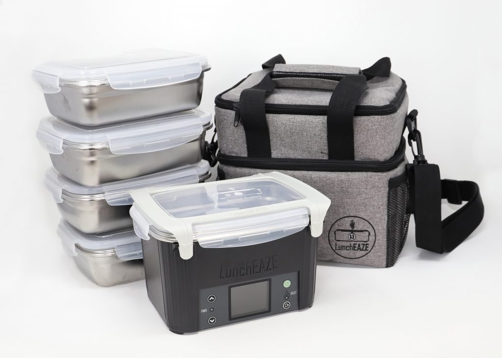 LunchEAZE meal prep pack with lunch bag and meal containers