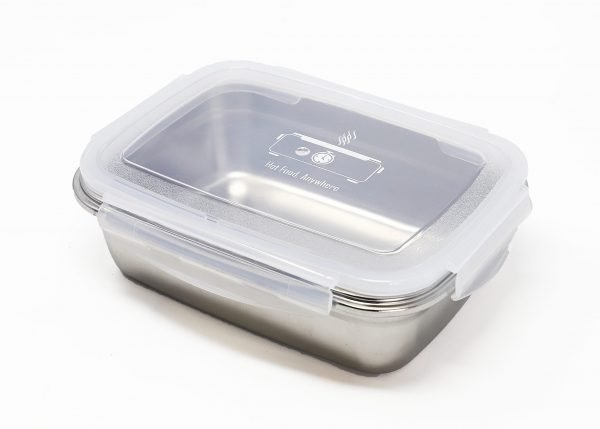 Stainless steel food container for meal prep
