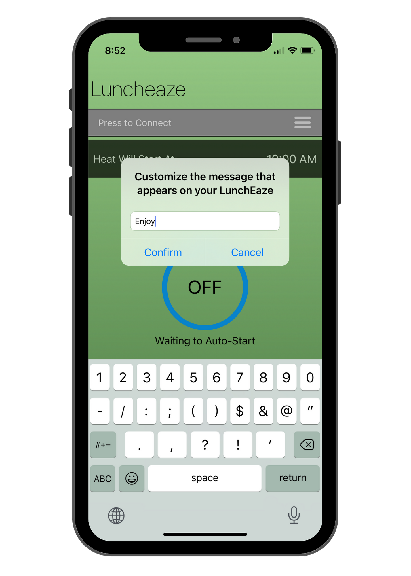 LunchEAZE bluetooth app